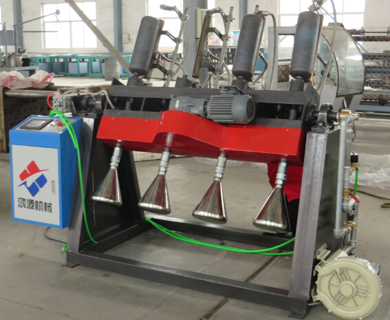 Cylinder inner spray coating and baking machine